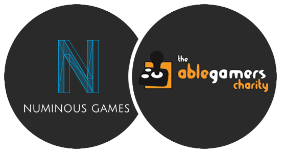 Numinous Games and AbleGamers Charity Logos