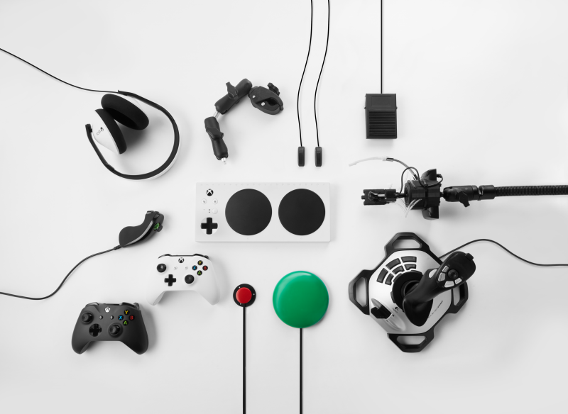 Various Adaptive Video Game Controllers