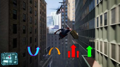 Screenshot from Spider-man the game with potential controls